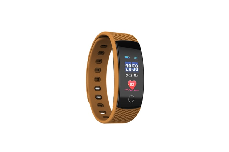 Smart Watch Heart Rate Monitor,Low Power Consumption Fitness Tracker Coffee
