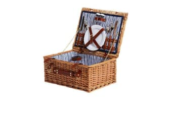 Kitchen Warehouse Oak Picnic Basket 2 Person Driftwood