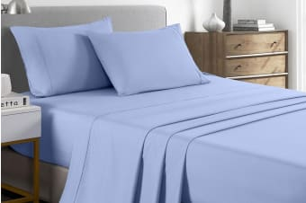 Royal Comfort 2000TC Bamboo Blend Cooling Sheet Set (Double, Light Blue)