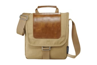 Field & Co. Cambridge Tablet Messenger Bag (Beige)