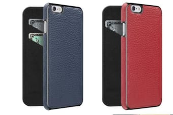 Adopted Leather Folio Wallet Case - iPhone 6 Plus & 6S Plus - Color: Cayenne/Gunmetal