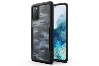 Galaxy S20 Plus Case VERTECH Heavy Duty Shockproof Slim Clear Cover-Camouflage/Grey