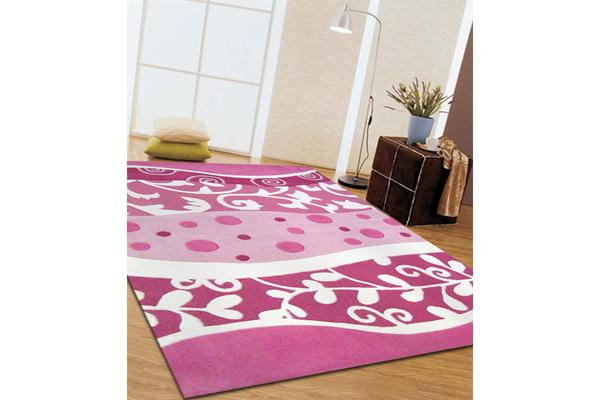 Stunning Pink and White Rug 165x115cm
