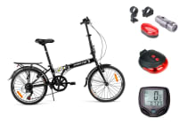 "Fortis Urban Traveller 20"" Folding Bike + Essentials Pack"