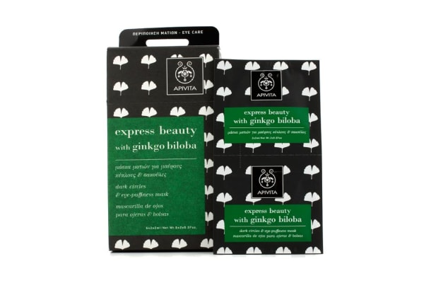 Apivita Express Beauty Dark Circles & Eye-Puffiness Mask with Ginkgo Biloba (6x(2x2ml))