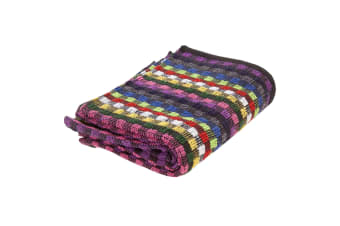 Cotton Check Terry Hand Towels (Pack Of 3) (Black / Multi) (One SIze)