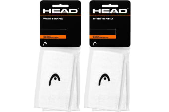"4pc Head 5"" Cotton Wristband Sweatband Sweat Wrist Band for Tennis Sport Gym Whi"