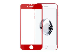 Tempered Glass Film Mobile Phone Protective Film For Iphone 8 Red
