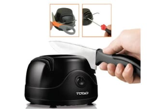 TODO 2 Pcs Electric Kitchen Knife Sharpener Knives Motorised Blade Tool Knive