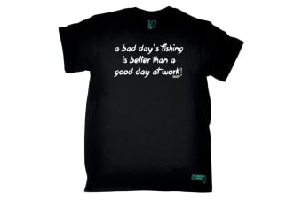 Drowning Worms Fishing Tee - A Bad Days Is Better Than Good Day At Work Mens T-Shirt