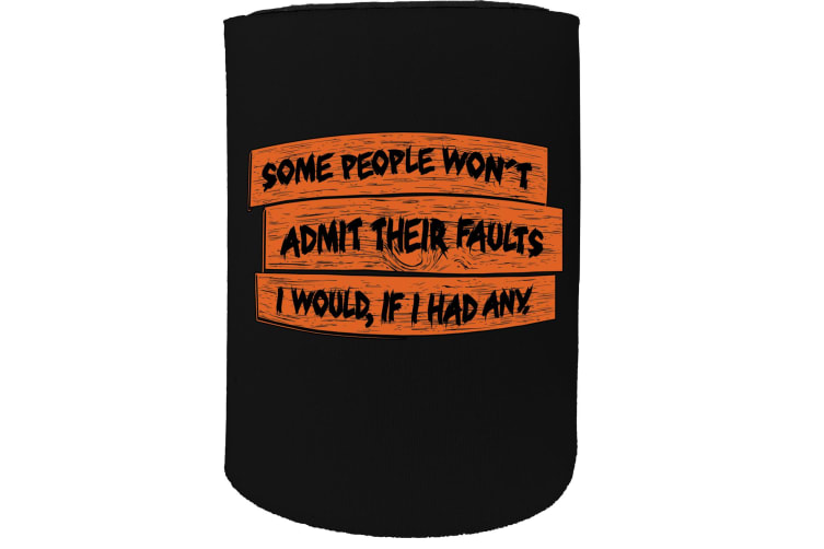 123t Stubby Holder - some people wont admit - Funny Novelty
