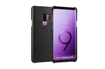 For Samsung Galaxy S9 Case Elegant Genuine Protective Leather Cover Black