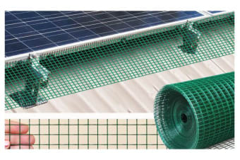 Solar Panel Bird Mesh Kit 30 Metres Green