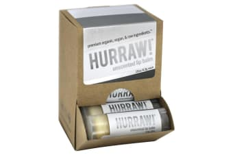Hurraw! Lip Balm Unscented 4.3g x 24 Display