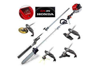 HONDA POWERED Pole Multi Tool - Chainsaw Saw 4-Stroke Snipper Brush Petrol GX35