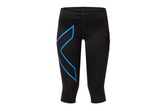 2XU Women's 3/4 Compression Tights G1 (Black/Blue)
