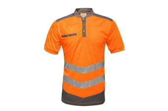 Regatta Mens Tactical Hi Vis Polo Shirt (Orange/Grey)