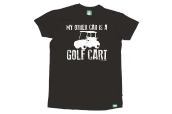 Out Of Bounds Golf Tee - My Other Car Is A Golf Cart - (Medium Black Mens T Shirt)