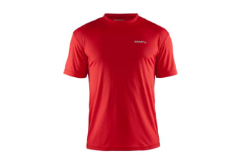 Craft Mens Prime Lightweight Moisture Wicking Sports T-Shirt (Red)