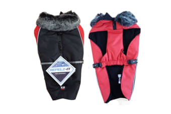 Dog Gone Smart Aspen Parka Dog Jacket (Black/Red)