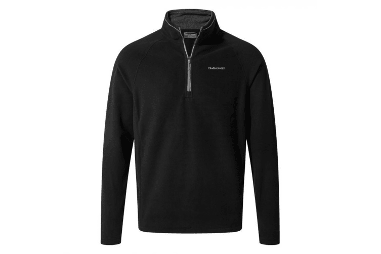 Craghoppers Mens Corey Half Zip Fleece (Black) (2XL)
