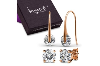 Boxed Earrings Set Embellished with Swarovski crystals