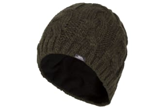 Trespass Mens Tomlins Knitted Beanie Hat (Olive) (One size)