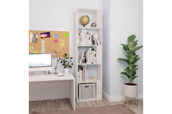 vidaXL Book Cabinet/Room Divider High Gloss White 45x24x159 cm Chipboard