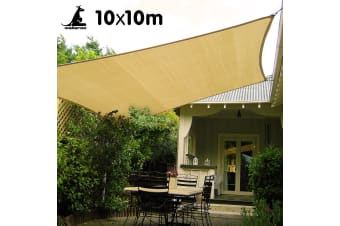 Wallaroo Square Shade Sail 10m x 10m - Sand