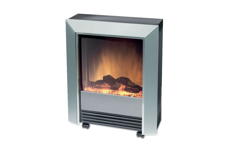 Dimplex 2kW Lee Portable Electric Fire with Optiflame Log Effect - Silver (LEE)