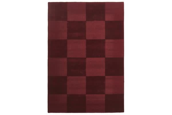 Wool Hand Tufted Rug - Box Red - 165x115cm