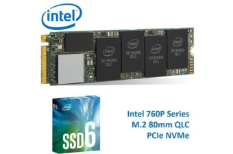 Intel 660P Series M.2 80mm 1TB SSD 3D2 QLC PCIe NVMe 1800R/1800W MB/s 150K/220K IOPS 1.6 Million Hours MTBF Solid State Drive 5yrs Wty