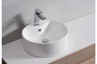 White High Gloss Ceramic Bathroom Sink Basin Above Counter Top (CBR001)