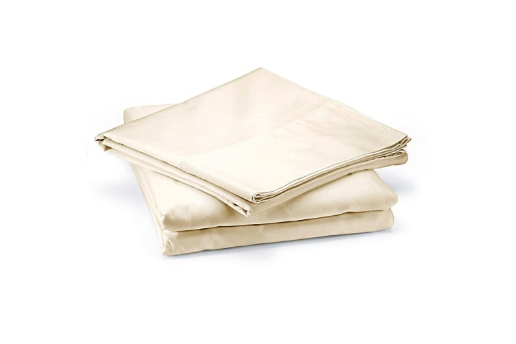 Royal Comfort 1000 Thread Count Cotton 3 Piece Quilt Cover Set for Single Bed - Ivory