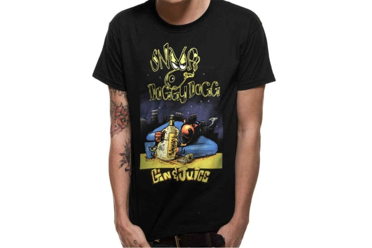 Snoop Dogg Adults Unisex Adults Gin And Juice Cover T-Shirt (Black) (S)