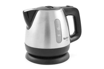 Tefal Mini 0.8L Stainless Steel Electric Cordless Kettle w  Limescale Filter