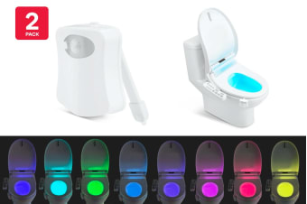 Motion Sensor Toilet LED Night Light (2 Pack)