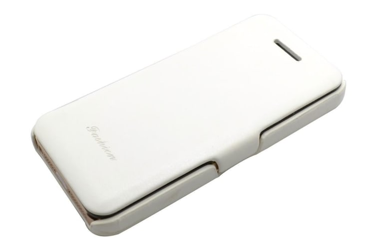 For iPhone 5C Case Fashion Stylish High-Quality Durable Flip Leather Cover White