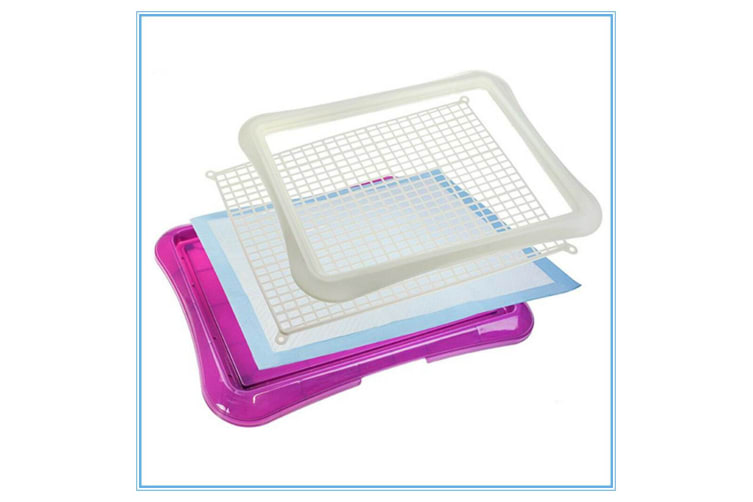 Purple Indoor Pet Cat Puppy Dog Potty Training Portable Toilet Large Loo Pad Tray Mat