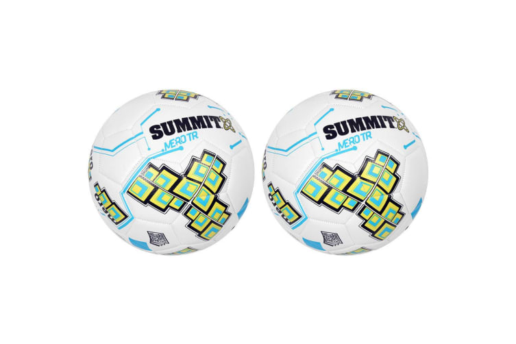 2PK Summit Size 5 White Club Trainer Soccer Ball/Football Sport Ball Game