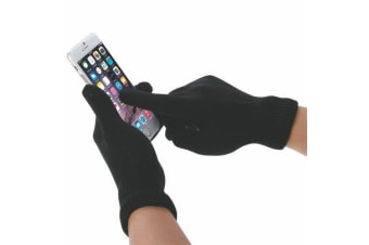 Touch Screen Gloves with High-Quality Precision Touch Response For Women Black