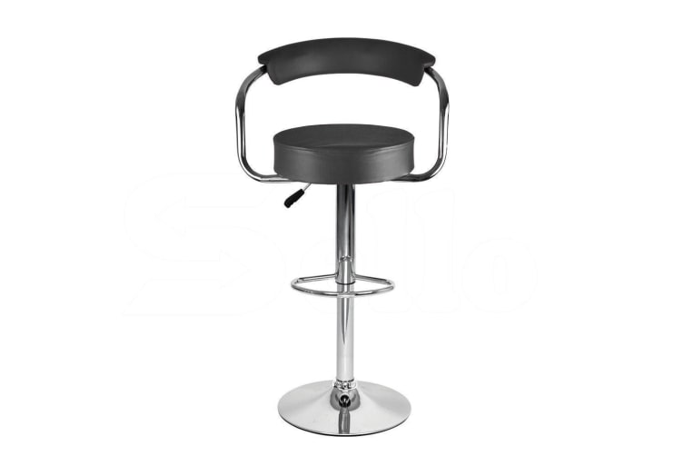2x PU Leather Swivel Bar Stools Kitchen Dining Chair Barstool Gas Lift Adjustable