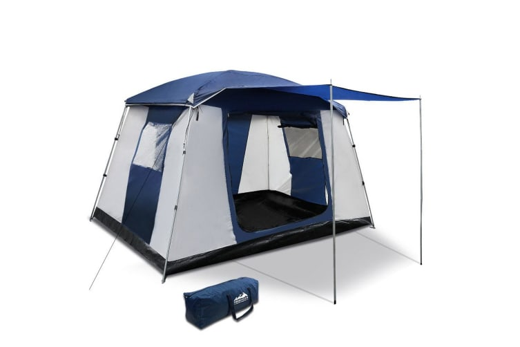 Family Camping Tent 6 Person Hiking Beach Tents Canvas Swag Ripstop
