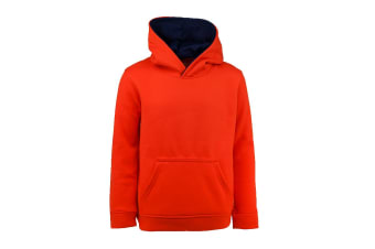 Champion Boys' Solid Performance Pullover Hoodie (Carrot, Size M)