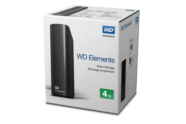"WD Elements Desktop 3.5"" 4TB External USB 3.0 Hard Drive - Black (WDBWLG0040HBK)"
