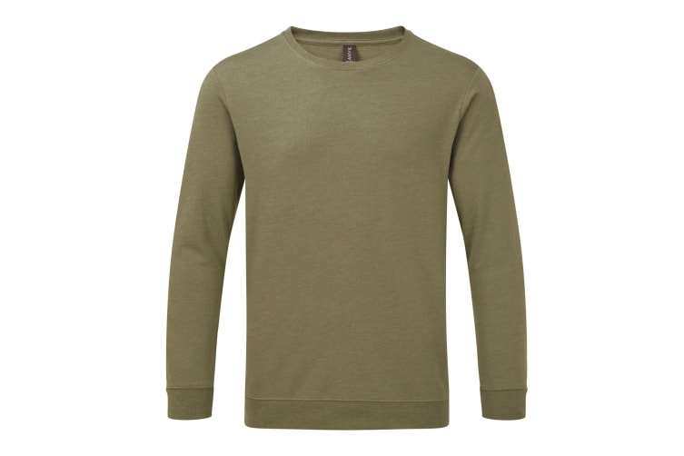 Anvil Unisex Light Terry Crew Sweater (Heather City Green) (3XL)