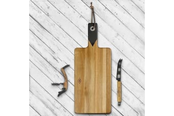 Wine & Cheese Serving Set | Serving Board, Bottle Opener & Knife |