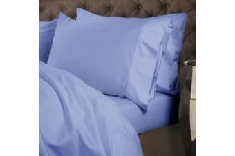 Royal Comfort 1000 TC Cotton 4 Piece Quilt Cover Set for King Bed - Powder Blue