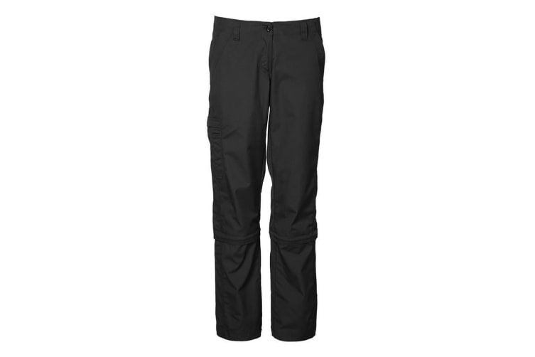 ID Womens/Ladies Regular Fitting Zip-Off 3/4 And Full Length Trousers (Black) (XL)