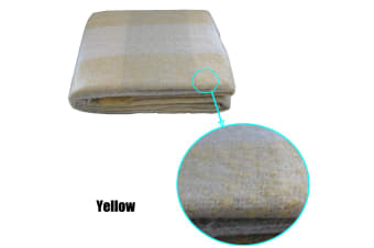 Mohair Throw 130 x 180 cm Yellow by Brighton Road